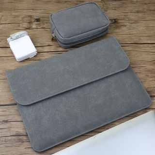 Kinyi - Plain Laptop Sleeve / Accessories Pouch  / Set