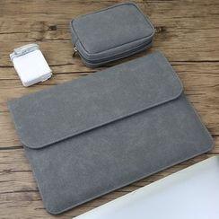 Kinyi - 純色手提電腦保護套 / 配飾小袋 / 套裝