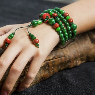 Townlet - 玉及陶瓷飾珠多層手鏈