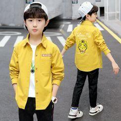 PAM - 小童老虎印花衬衫外套