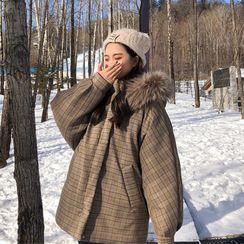 Whoosh(ウーシュ) - Plaid Padded Coat