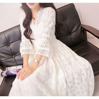 SEPH - 3/4-Sleeve Lace Maxi Dress