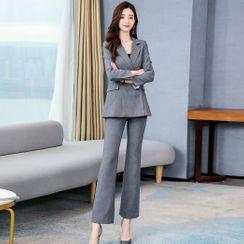 Romantica - 套裝: 鈕扣西裝外套 + 靴形西褲