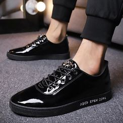 JACIN - Glitter Lace Up Sneakers