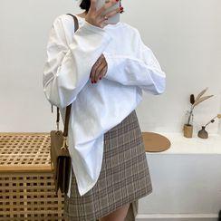 Zinniagal - Long-Sleeve Plain T-Shirt