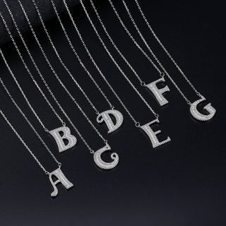 Knick Knack - Rhinestone Lettering Necklace
