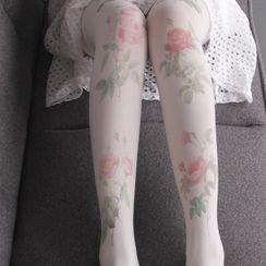 novanoir - Floral Tights