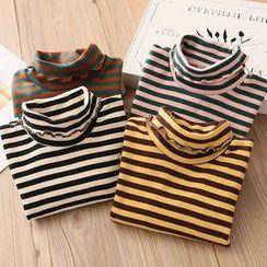 Seashells Kids - Kids Striped Turtleneck Long-Sleeve T-Shirt