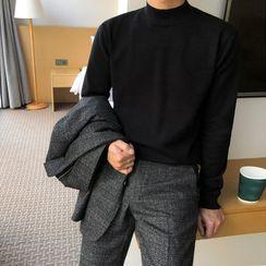 匡億 - 長袖小高領針織上衣