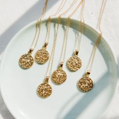 Jasminte - Twelve Constellations Disc Necklace