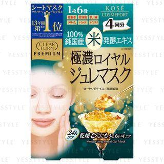 Kose - Clear Turn Premium Royal Gelee Mask 4 pcs