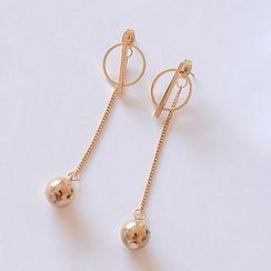 Jemai - Embellished Drop Earring