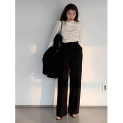maybe-baby - Flat-Front Wide-Leg Pants