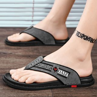 BELLOCK - Lettering Slide Sandals