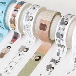 Full House - indigo-Printed Masking Tape