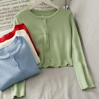 Lemongrass - 修身短款針織上衣
