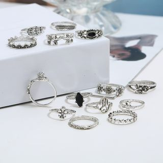 Zibliss - Set Of 14 : Retro Ring