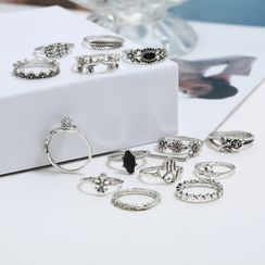Zibliss - Set of 14: Retro Rings