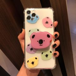Huella - Koala Phone Case with Stand For iPhone SE / 7 / 7 Plus / 8 / 8 Plus / X / XS / XR / XS Max / 11 / 11 Pro / 11 Pro Max