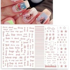 WGOMM - Rose Gold Nail Art Stickers