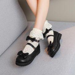 Freesia - Ribbon Ankle-Strap Mary Jane Flats