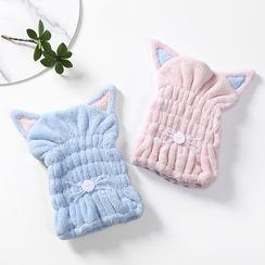 Soldana - Cat Ear Coral Fleece Hair Drying Towel