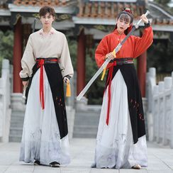 Tangier(タンジアー) - Couple Matching Embroidered Traditional Chinese Costume Set