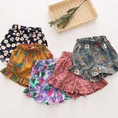 Seashells Kids - Kids Floral Shorts