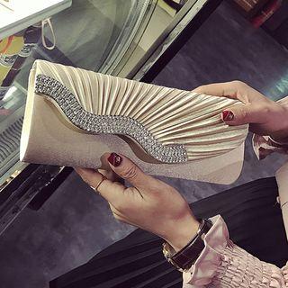 Clair Fashion - 時尚鑲鑽錬條晚宴包 手拿包