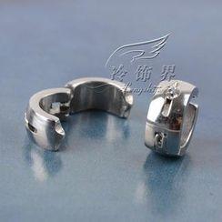 Trend Cool - Single Rhinestone Stainless Steel Earring