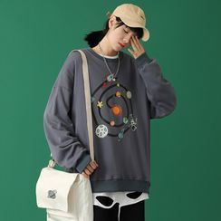Fizze - Couple Matching Cartoon Print Sweater