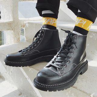 VEAZ - 仿皮繫帶短靴