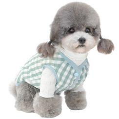 Pettrip - 格子宠物上衣