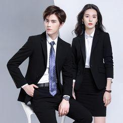 Skyheart - Couple Matching Single-Button Blazer / Pencil Skirt / Dress Pants / Single-Breasted Vest / Set