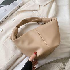 Kunado - 仿皮純色手提包