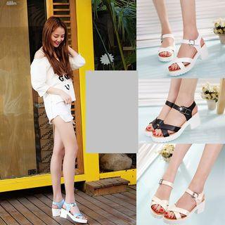Weiya - Block Heel Ankle Strap Sandals