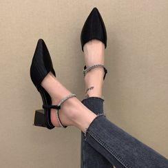 The Hoof - Rhinestone Chunky Heel Sandals
