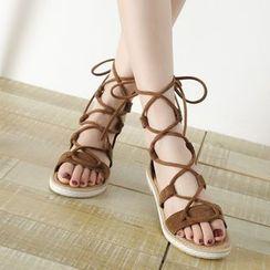 Cinnabelle - Lace-Up Roman Sandals