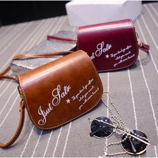 Rosanna Bags - Faux-Leather Lettering Printed Cross Bag