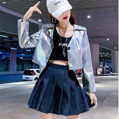 Robynn - Crop Blazer / Pleated Skirt