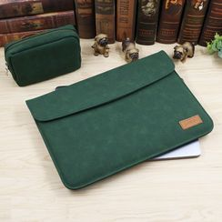 Simkim - Flap Laptop Sleeve / Zip Accessory Pouch / Set