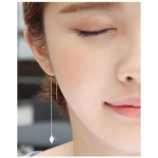 Miss21 Korea - Rhinestone Threader Earrings