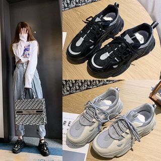 Margaux Jo - Paneled Platform Sneakers