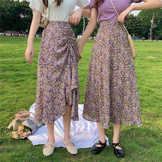 KAKAGA - 碎花A字中长裙