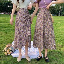 KAKAGA - Floral Midi Skirt