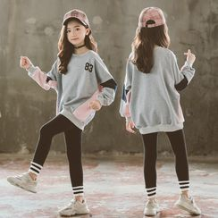Meroboz - Kids Paneled Sweatshirt