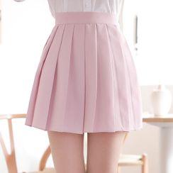 MyFiona - Plain Mini Tennis Skirt