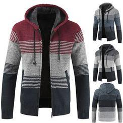 YIKES(ヤイクス) - Hooded Knit Zip Jacket