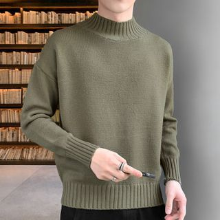 Cavafy - 半高領純色針織衫