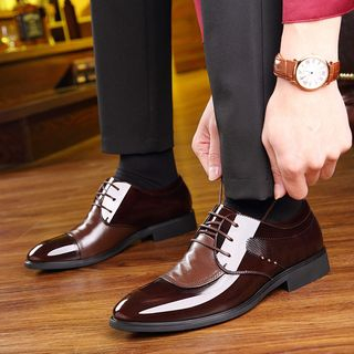 Snowpard - Genuine Leather Pointy Toe Oxfords